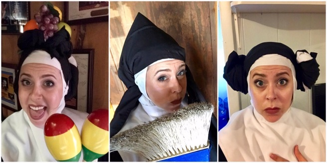 "some of Sister Robert Anne's ""habit humor"", NUNSENSE at the Barn Dinner Theatre"