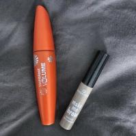orange CoverGirl mascara, Essence brow gell